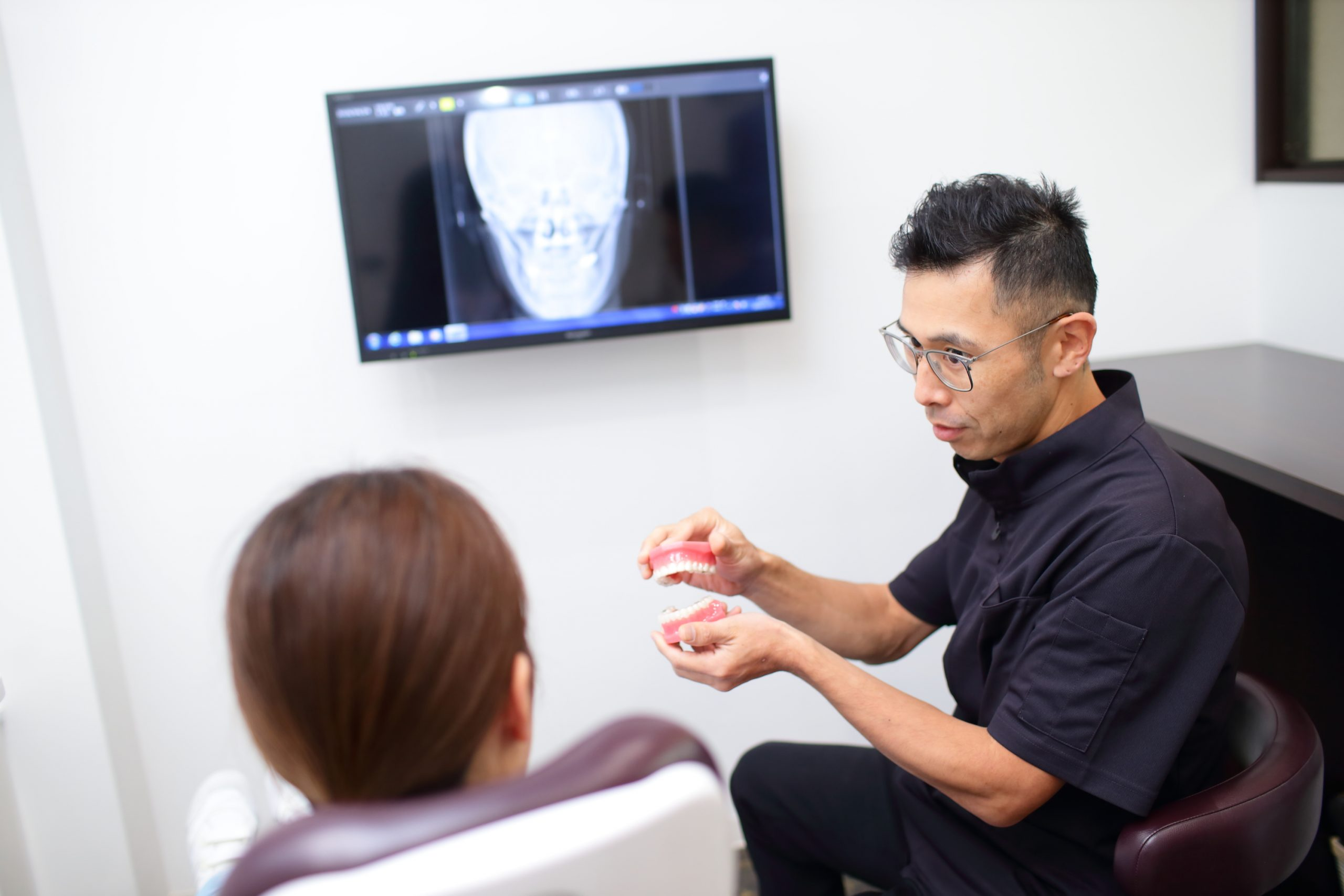 歯の動きを確認できる